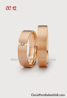 CINCIN Tunangan Emas, Cincin Kawin EMAS, Cincin Pernikahan TERBARU, Cincin Perak COUPLE: Cincin Kawin CC 12