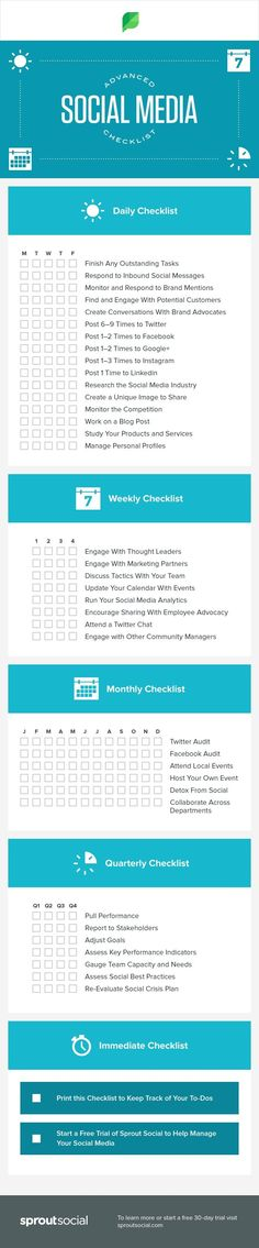 A Daily, Weekly & Monthly Checklist to Improve Your Social Media Strategy | Blogging Help | Blogging | Blogging Advice | Blogging Tips | Learn to Blog | Pinterest | Facebook | Instagram | YouTube | Twitter | Reddit | Tumblr | StumbleUpon | Saved by theoilyanalyst.com