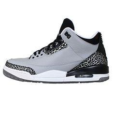 Nike Jordan Men's Air Jordan 3 Retro Wolf Grey/Metallic Silver/Blck/Wht Basketball Shoe 11 Men US
