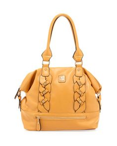 Bianca Braided Dome Satchel Bag, Mustard by V Couture by Kooba at Neiman Marcus Last Call.