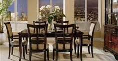 [ Dining Room Table Italian Sets Furniture Wicker Set With ] - Best Free Home Design Idea & Inspiration Elegant Dining Room, Dining Room Sets, Dining Room Design, Dining Room Chairs, Dining Room Furniture, Shabby Chic Furniture, Furniture Stores, Furniture Outlet, Dining Tables