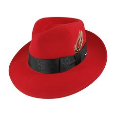 c48155ffe5792 Bailey Hats 7002 Crushable Fedora - Red