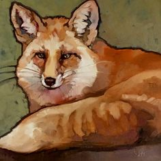 """""""Fox"""" 20x20 oil on canvas FOR SALE"""