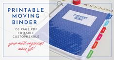 Get ready to organize every detail of your next move with this amazing, comprehensive Printable Moving Binder! It's editable, customizable, and includes everything you need for your best move ever!