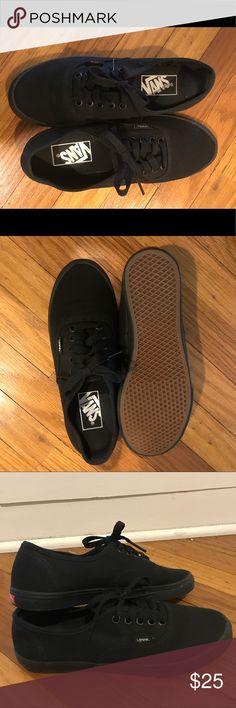 Black vans Never worn, all black vans! Vans Shoes Sneakers