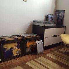 Portas-Vinis Demolição da Tadah organizando os discos super cool da Agnes! ✌️🎶❤️ Por R$69,90, capacidade para até 70 discos! :) www.tadah.com.br #tadahdesign #madeiramaciça