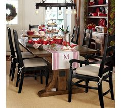 Love this whole dining look. Galvanized Metal Tiered Stand | Pottery Barn
