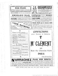 Publicités, L'Art d'être jolie : publication hebdomadaire illustrée / sous la direction de Mme Liane de Pougy, 03/09/1904