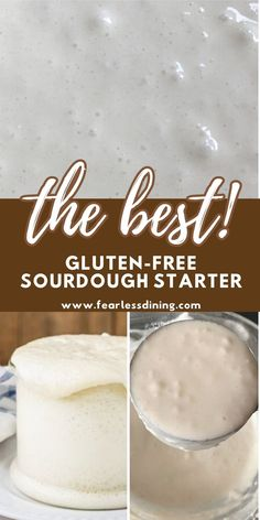 This quick and easy gluten free sourdough starter is great to use in my gluten free sourdough bread, breadsticks, pizza crust, and bagels recipes. Two simple ingredients and all you need is 5 days to make sourdough. fearlessdining Gluten Free Breads, Good Gluten Free Bread Recipe, Gluten Free Sourdough Bread, Sourdough Bread Starter, Gluten Free Baking, Dairy Free Recipes, Bread Recipes, Muffins, Starter Recipes