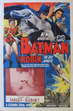 New Adventures of Batman and Robin Movie Poster (1949)