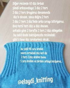 Anlatımlı Bebek Yeleği Tarifi 2 See other ideas and pictures from the category menu…. Faneks healthy and active life ideas Stitch Crochet, Bobble Stitch, Crochet Shirt, Quick Crochet, Crochet Baby, Knit Crochet, Crochet Slippers, Free Crochet, Arm Knitting
