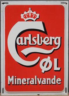 Vare: 3683941Emaljeskilt, Carlsberg Øl Mineralvande