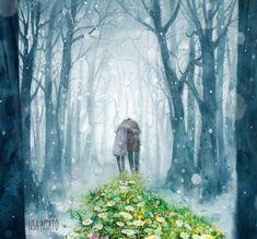 Old Man Walking, Walking In The Rain, Magazine Illustration, Illustration Art, Illustrations, Lisa, Human Emotions, Heart Art, Surrealism