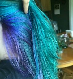 Alden Tanski | Manic Panic Voodoo Blue and Ultra Violet hair
