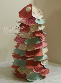Hearts Tree for Valentines made with Stampin' Up! products. Includes tutorial by Debbie Henderson, Debbie's Designs.