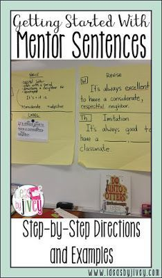 Ideas by Jivey walks you through each day of the first week of mentor sentences.