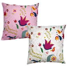 Cushion Cover with Towel Stitch Embroidery in Assorted Colours