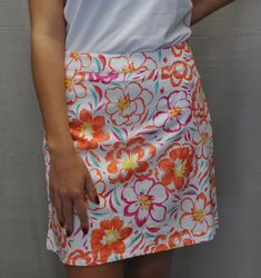 women's clothing, [sku] Floral Print Skort,  Skort,  Greg Norman, ladies golf accessories- From the Red Tees