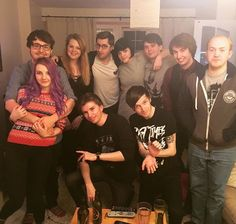 Picture includes some of my favorites Smallishbeans(Joel) LDShadowlady(Lizzie) TheOrionSound(Oli)