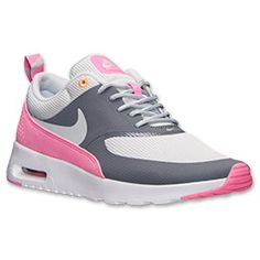 <p>Meet the Women's Nike Air Max Thea Running Shoes. She is lighter than ever, durable as ever, and as comfortable as ever. She is everything you could want in a running shoe.</p> <p>Her upper is constructed using minimal textiles, and she has synthetic and leather overlays to provide support, while also remaining lightweight. Her midsole has injected Phylon for a great cushiony feel, a visible Air-Sole unit to absorb shock, and a Solarsoft sock liner, to provide a forgiving, easeful feel in…