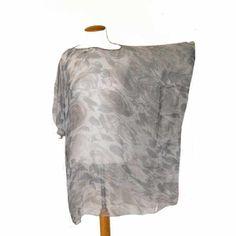 blusón de gasa de seda y pedrería en cuello JULUNGGUL by Julia Munilla