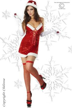b6866e7bc3 Christmas fishnet six lingerie set. Sexy X-mas Lady will seduce you during  long and cold Christmas nights! Christmas fancy dress four costume set by  ...