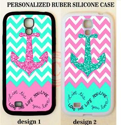 LIVE LOVE LIFE MINT PINK CHEVRON ANCHOR Case For Samsung GALAXY S8 S7 NOTE 5 4 3 #UnbrandedGeneric