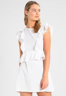 f7b2a0c7a4e5 DEBIFLUE FLOUNCE DRESS - Sommerkjoler - white   Zalando.dk 🛒