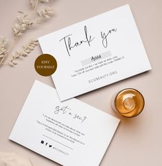 Thank You Card Design, Thank You Card Template, Thank You Card Examples, Small Business Cards, Business Thank You Cards, Packaging Design, Branding Design, Packaging Ideas, Ideas Para Logos