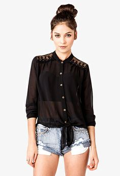 Floral Embroidered Shirt | FOREVER21 - 2021841369