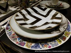 Christian Lacroix Maison Stripes & Collage Dinnerware for Vista Alegre 1824