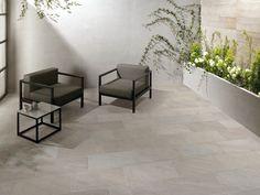 Pavimento para exteriores de grés porcelânico com efeito de pedra POINT SILVER Coleção Point by CERAMICHE KEOPE