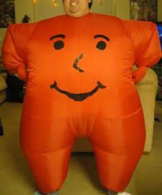 kool-aid man costume from an inflatable morph suit and a little bit of paint