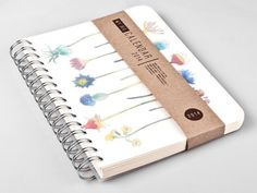 2014 Weekly Planner Calendar Diary Day Spiral A5 Floral Flower This Day Planner - Great Christmas Gift Idea on Etsy, $24.00