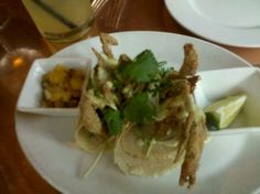 Soft shell crab tacos from Centrico