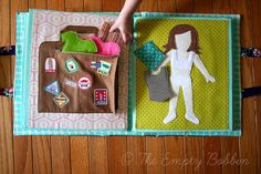 felt dress up doll with suit case to store clothes in