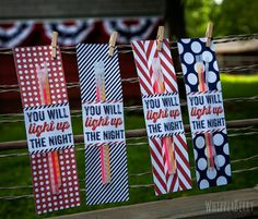 27 Fun things for the 4th of July - Sparkler or Glow in the Dark Favors, Bingo, games, etc.