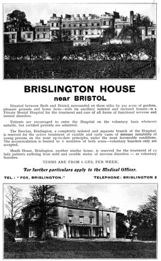https://flic.kr/p/f97uNB | Dr Fox's nursing home, Brislington | Long Fox Manor has an interesting past, being almost the first purpose built private asylum for the insane. Purchased in 1799 by Edward Long Fox (1760 - 1835), construction begun in 1804,on former common land close to the village of Brislington, and was opened 1806 called initially Brislington House. It cost about 35,000 pounds to build and equip and was designed as a group of detached houses (these were later joined together)…