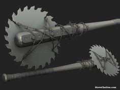 Make shift buzz saw weapon