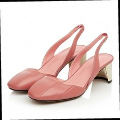 43.86$  Buy here - http://alincn.worldwells.pw/go.php?t=32703528341 - 2016 New autumn fashion slingback genuine leather solid women sandals hollywood star high heel square toe shoes grace pink pumps 43.86$