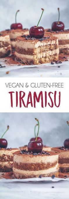 VEGAN GLUTEN-FREE TOFU TIRAMISU healthy vegan glutenfree dairyfree tiramisu tofu dessert treat recipe coffee cream plantbased almondbutter cherries protein high protein