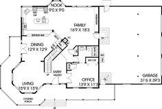 Built-in aquarium in the comfortable family room - plan 085D-0877 - houseplansandmore.com