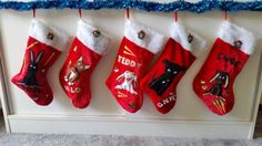 Etsy personalised pet christmas stockings bunnies dogs xmas dog bunny cats cat people family handmade unique ideas sewing