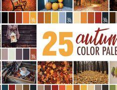 25 Autumn Color Palettes