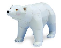 FREE SHIPPING! Zoo gifts,3D paper Polar bear dolls toy, diy toy by hand, Animal Model Building Kits, education toy gift