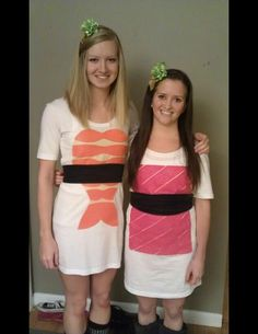 Sushi costumes!!! Just add some black jeans/leggings.