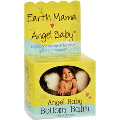 Earth Mama Angel Baby Angel Baby Bottom Balm - 2 oz - Hospital recommended Angel Baby Bottom Balm is a safe, effective, herbal diaper cream that safely battles existing diaper rash and protects against flare ups. Certified by Oregon Tilth, its the only ointment made with Earth Mamas proprietary blend of naturally antibacterial and antifungal organic herbs, Shea butter and pure essential oils, soothing to thrush, itchy bug bites, scrapes, chicken pox, minor rashes, and burns. From diaper bag…