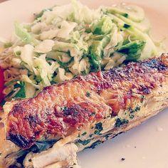 Simply delicious - grilled mackerel - so köstlich - gegrillte Makrele🐟 Vegan, Chicken, Food, Coconut Milk, Crickets, Homemade, Kochen, Essen, Yemek