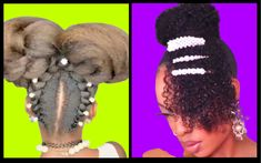 Curly Bun N Bangs W/ Clipins, Kids Hairstyles, Pixie Slay & Other Stunning Hairstyles Natural Hair Updo, Natural Hair Styles, Afro Hair Care, Curly Bun, Relaxed Hair, Afro Hairstyles, Face Shapes, Updos, Bangs