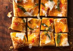 Butternut Squash Tart with Fried Sage | 101 Bite-Size Party Foods